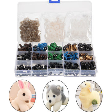 264Pcs 6-12mm Black Colorful Thread Eyes For Teddy Bear Doll Felting Animals Toy Crafts DIY Accessories
