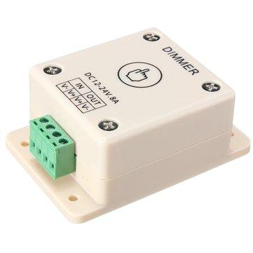 LED Light Dimmer Controller Touch Motion Sensor Control 8A DC 12V-24V For Single Color Strips