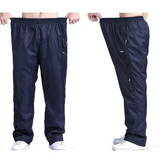 Plus גודל Mens חורף עבה פליס חם מכנסיים מותניים אלסטיים מותניים מקרית רופף
