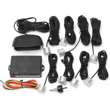 Auto LCD Coche Estacionamiento 8 Sensores Rear Vista Frontal Reverse Backup Radar System Kit