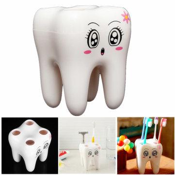 ที่วางแปรงสีฟัน 4 นิ้ว Holder Smily Face ตู้แร็กเก็ต Rack ออกแบบแปรงสีฟัน