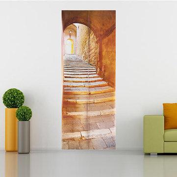 3D Stone Stair Art Door Wall Fridge Sticker Decal Self Adhesive Mural Home Office Decor