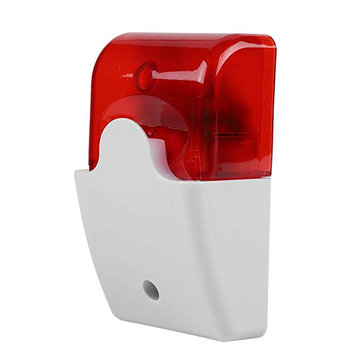 NEW Durable 12V Wired Sound Alarm Strobe Flashing Light Alarm Home Security Safe
