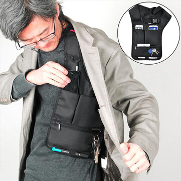 Hidden Oxter Invisible Crossboby Bag Multifunctional Burglarproof Storage Bag