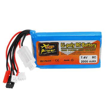 ZOP Power 7.4V 2000mah 8C Lipo Battery For Frsky ACCST Taranis Q X7 Transmitter