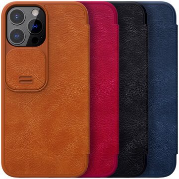 How can I buy Nillkin for iPhone 13 Series Case Slide Camera Protection Flip Shockproof with Card Slot PU Leather Full Cover Protective Case with Bitcoin