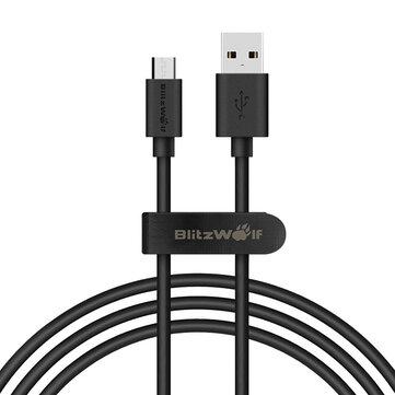 BlitzWolf® BW-CB7 2.4A 3.33ft/1m Micro USB Cable de Datos de Carga con Cinta Mágica
