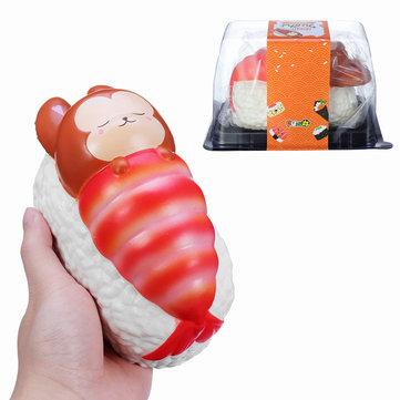 Yummiibear Squishy Foxy And Prawn Blanket Jumbo Sushi Toy Slow Rising With Packaging Box