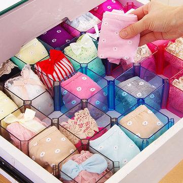 Creative Drawer DIY Grid Storage Box Underwear Holder Socks Organizer Jewelry Storage Case