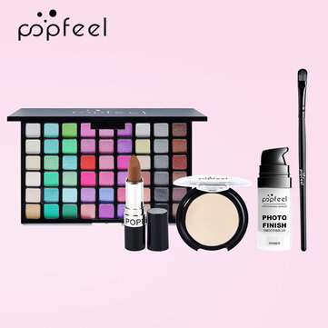 Buy POPFEEL 5Pcs Makeup Set Easy To Apply Foundation Liquid Foundation Eye Shadow With Brush Tool with Litecoins with Free Shipping on Gipsybee.com