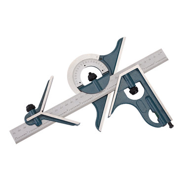 180 Degree Machinist Square Protractor 12 Inch Combination Measuring Angle Tool for Woodworking