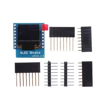 Wemos® 0.66 Inch OLED Shield For WeMos D1 Mini 64X48 IIC I2C Compatible