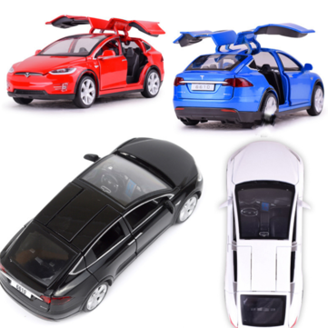 $12.70 for Baosilun1:32 Simulation Tesla MODEL X90 Alloy Car Model Children Sound And Light Toys