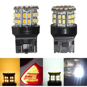 7443 bulbo 1206 W21 / 5W LED luz de freno 50smd luz de estacionamiento parada coche blanco T20 3w