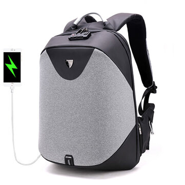 Мужчины Antitheft Рюкзак 5in Ноутбук для бизнеса Рюкзак с Costoms Замок и USB Зарядный порт