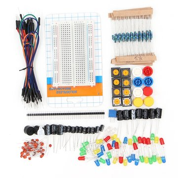 Geekcreit® Portable Components Starter Kit For Arduino Resistor / LED / Capacitor / Jumper Wire / 400 Hole Breadboard / Resistor Kit With Plastic Box