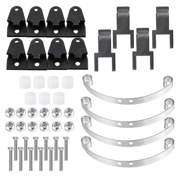 WPL 1/16 Metal Earring And Shock Absorber Board For B1 B16 B24 B36 RC Car Parts Black