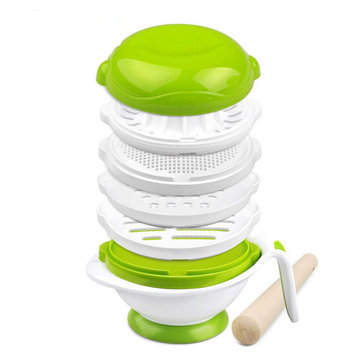 GL YM-1 Multifunction Grinder Bowl 8 in 1 Baby Feeding Set Baby Fruit Feeder Baby Food Grinder Cook