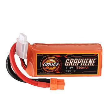 URUAV GRAPHENE 11.1V 1550mAh 130C 3S Lipo Battery for RC Racing Drone