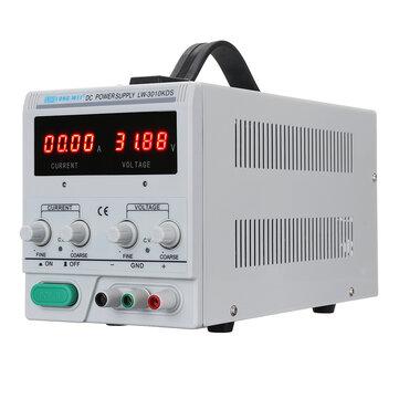 LONG WEI® 3010KDS Bộ nguồn DC có thể điều chỉnh 220 V / 110 V 0-30V 0-10A Bộ chuyển đổi hiển thị kép Bộ nguồn được điều chỉnh