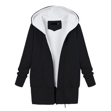 शीतकालीन महिला गर्म हुड कपास जैकेट Fluffy आउटडोर कोट्स