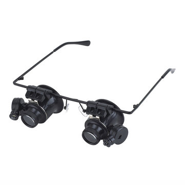 BIJIA 65008 20x LED Double Eye Magnifier Jewelry Watch Repair Tactical Hunting Riflescopes