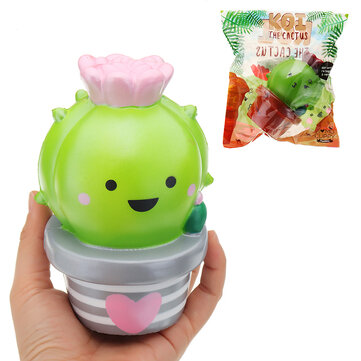 $3.09 for Momocuppy Cactus Flower Pot Squishy 18cm Slow Rising With Packaging Collection Gift Soft Toy