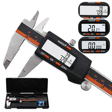 DANIU 150 mm rostfritt stål LCD-skärmskärm Digitalkaliper 6 tums fraktion / MM / Inch High Precision Stainless Steel LCD Vernierkaliper