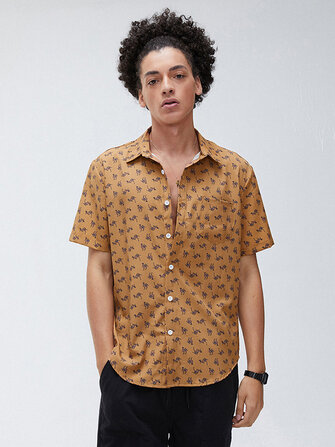 How can I buy Mens Funny Camel Printing Breathable Turn Down Collar Casual Shirts with Bitcoin
