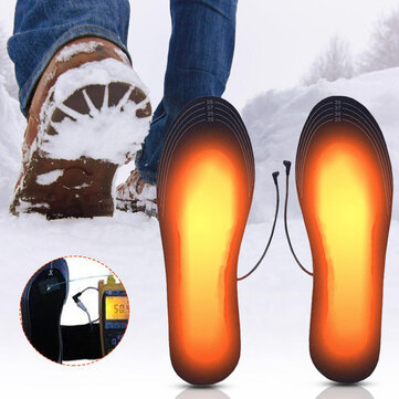 Buy USB Charging Heated Shoe Insoles Washable Winter Foot Warmer Heated Insoles Cuttable Heater Pads with 1 on Gipsybee.com