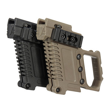 Airsoft Tactical Gun Holster Foregrip Adapter for Glock Edition G17 G18 G19 Black Sand