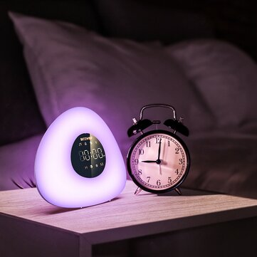 BlitzWolf BW LT23 Pro Wake up Light Alarm Clock with Sunrise and Sunset Mode Touch Control RGB Dimmable Night Lamp