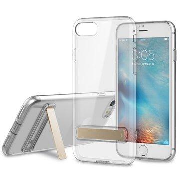 Rock Crystal Kickstand TPU Veske Med Støvplugg For iPhone 7/8