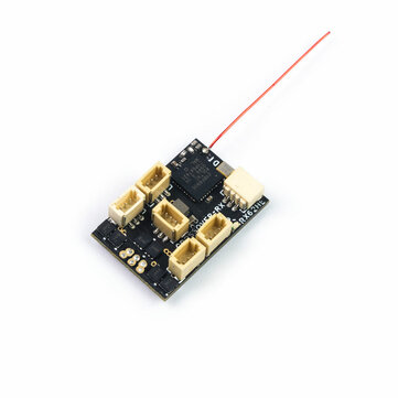 AEORC RX154-E/TE 2.4GHz 7CH Mini RC Receiver with Telemetry Integrates 2S 7A Brushless ESC Supports DSMX/2 for RC Drone