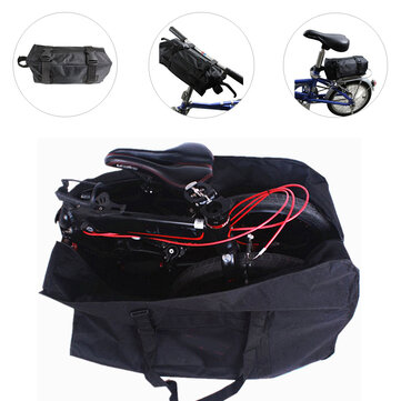 14-20inch Folding Bike Bag Sun UV Dust Wind Proof Bicycle Cover Bag Mountain Holder Bag for Dahon