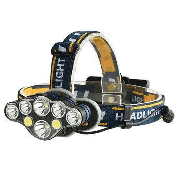 XANES® 2606-8 3300LM 2T6+4*XPE+2*COB LED Headlamp 8 Modes Camping Cycling Hunting Emergency Lantern