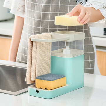 800ML Kitchen Soap Pump Dispenser Sponge Holder Cleaning Liquid Dispenser Container Press Soap Organizer for Kitchen Cleaner Tools Coupon Code and price! - $16.94