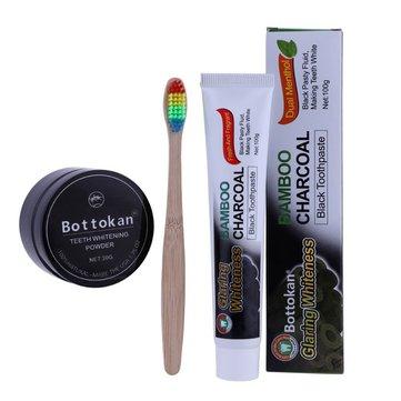 Bàn chải đánh răng bằng than tre tự nhiên Bộ bàn chải đánh răng Rainbow Bamboo Soft Bàn chải đánh răng làm trắng