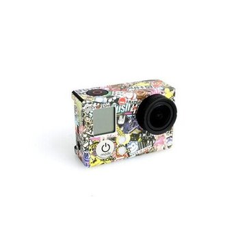 Color Drawing Body Cam Sticker for Gopro Hero 4 3 3 Plus Bare Machine Cartoon