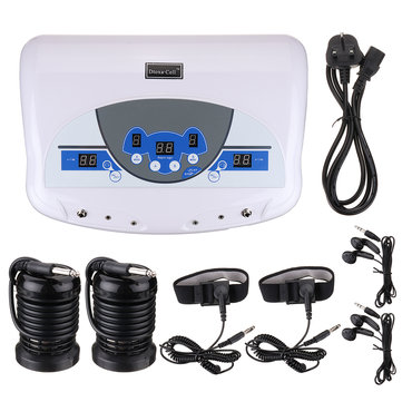 Dual Electric Ionic Cell Detox Foot Bath Spa Machine Home Relax Massager LCD w/ Mp3 Music Player