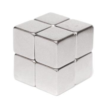 Machifit 8 chiếc N52 10x10x10mm Khối nam châm Neodymium Siêu mạnh Nam châm đất hiếm vĩnh cửu