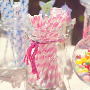 25pcs paglie di carta per la decorazione di nozze compleanno paglie del partito della fornitura di carta creativa cannuccia