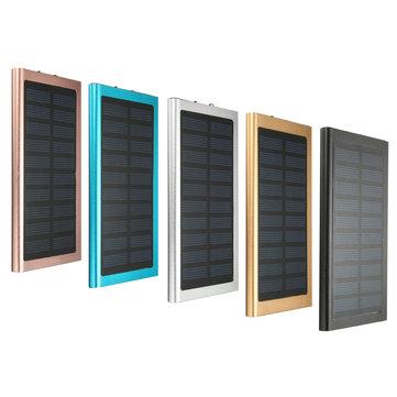IPhone iPad टैबलेट स्मार्ट फोन के लिए 8000mAh अल्ट्राथिन सोलर बैटरी चार्जर पावर बैंक