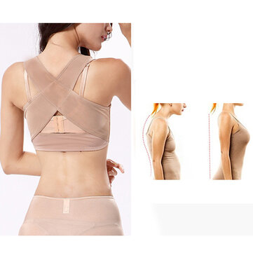 Womens Invisible Posture Corrector Brace Trainer Providing Relief from Bad Posture Back Strap
