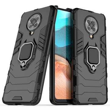 Bakeey for Poco F2 Pro Case Armor Shockproof Anti-fingerprint with 360° Rotation Magnetic Ring Bracket PC Protective Case