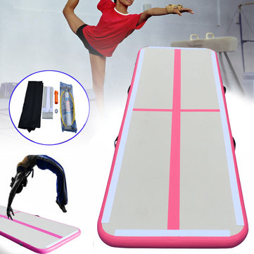 118 x 35.4 x 4inch Inflatable GYM Air Track Mat Floor Airtrack Gymnastics Mat Set with Pump and Repair Kit