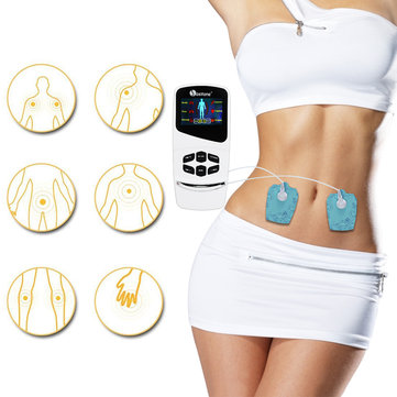 TENS Unit Electronic Pain Relief Massager 6 Modes with 4 Pads Adjustable Speed Electric Massager