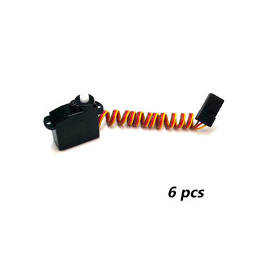 6 PCS PZ 5g Thin Servo 4.3g Analog Plastic Gear 300g Torque TJC8 2.54mm 3P for RC Drone Car Robot Airplane Aircraft Fixed Wing Plane