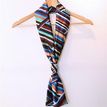 महिला लेडी डबल परत शिफॉन स्कार्फ विंटेज स्टाइल प्रिंटिंग लंबे सुरुचिपूर्ण स्कार्फ तौलिया