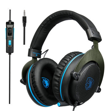 Sades R3 Gaming Bass Surround Stereo Over Ear Game Headset...